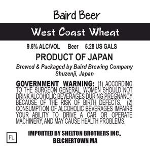 Baird Brewing Company West Coast Wheat
