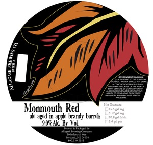 Allagash Brewing Company Monmouth Red