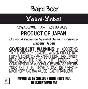 Baird Brewing Company Yabai-yabai