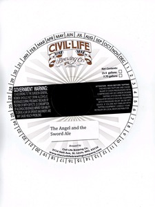 The Civil Life Brewing Company The Angel And The Sword Ale