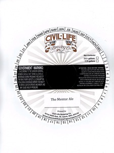 The Civil Life Brewing Co. The Mentor Ale