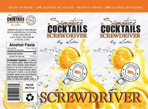 Signature Cocktails By Loko Screwdriver