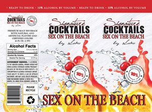 Signature Cocktails By Loko Sex On The Beach