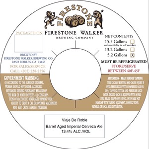 Firestone Walker Brewing Company Viaje De Roble