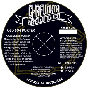 Chafunkta Brewing Company 0ld 504 Porter