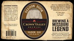 Crown Valley Brewing Co. Saloon Door