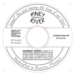 Piney River Brewing Co. Crankbait