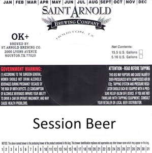 Saint Arnold Brewing Company Session Beer