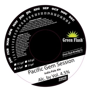Green Flash Brewing Company Pacific Gem Session