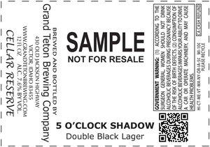 Grand Teton Brewing Company 5 O'clock Shadow