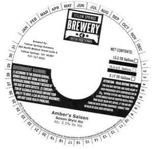 Yellow Springs Brewery Amber's Saison