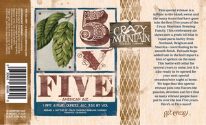 Crazy Mountain Brewing Company Five