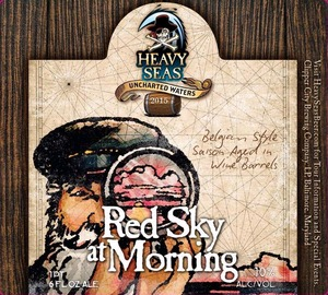 Heavy Seas Red Sky At Morning