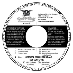 Frankenmuth Oatmeal Coffee Stout