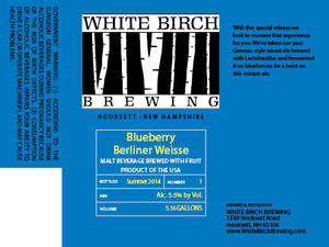 White Birch Brewing Blueberry Berliner Weisse