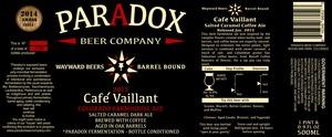 Paradox Beer Company Cafe Vaillant