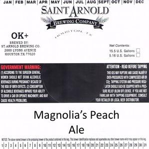 Saint Arnold Brewing Company Magnolias Peach Ale
