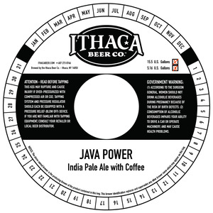 Ithaca Beer Company Java Power India Pale Ale With Coffee