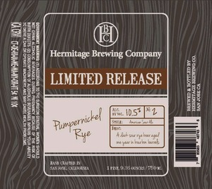 Hermitage Brewing Company Pumpernickel Rye