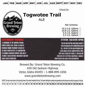Grand Teton Brewing Company Togwotee Trail