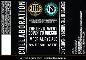 Devils Backbone The Devil Went Down To Oregon