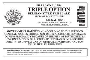 Highland Brewing Co. Triple Option