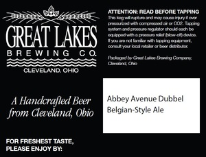 The Great Lakes Brewing Company Abbey Avenue Dubbel