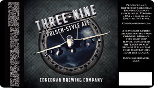 Corcoran Brewing Company Three-nine January 2015