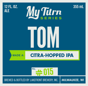 Lakefront Brewery Tom Made A Citra-hopped IPA
