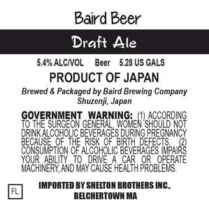 Baird Brewing Company Draft Ale