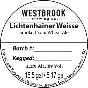 Westbrook Brewing Company Lichtenhainer Weisse