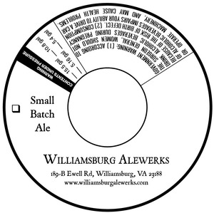 Williamsburg Alewerks Small Batch Ale