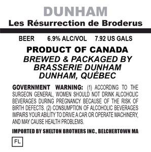 Brasserie Dunham Les Ressurection De Broderus