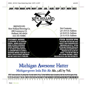 New Holland Brewing Company Michigan Awesome Hatter
