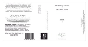 Maine Beer Company Beer 1
