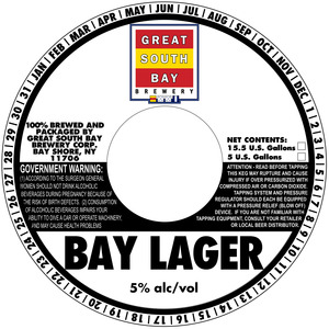 Great South Bay Brewery Bay Lager