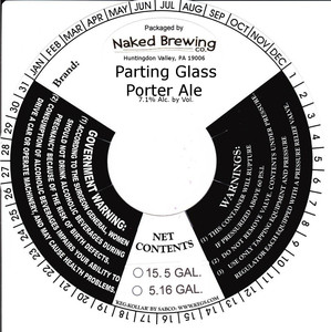 Naked Brewing Company Parting Glass Porter Ale