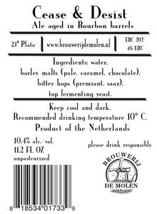 Brouwerij De Molen Cease & Desist