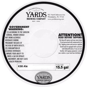 Yards Brewing Company K38 Ale