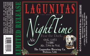 The Lagunitas Brewing Company Nighttime