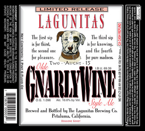 The Lagunitas Brewing Company Olde Gnarlywine Style