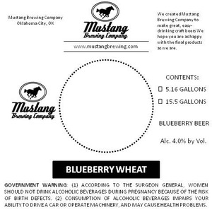 Mustang Brewing Comapny Blueberry Wheat