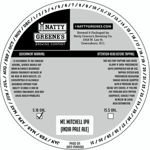 Natty Greene's Brewing Co. Mt. Mitchell