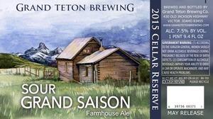 Grand Teton Brewing Company Sour Grand Saison