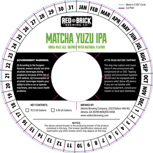Red Brick Matcha Yuzu IPA