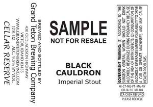 Grand Teton Brewing Company Black Cauldron
