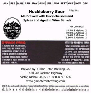 Grand Teton Brewing Company Huckleberry Sour