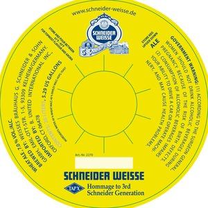 Schneider Weisse Tapx Hommage To 3rd Schneider Generation