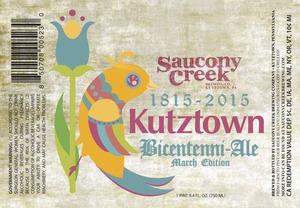 Saucony Creek Brewing Company Kutztown Bicentenni - Ale