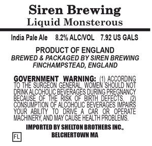Siren Brewing Liquid Monsterous